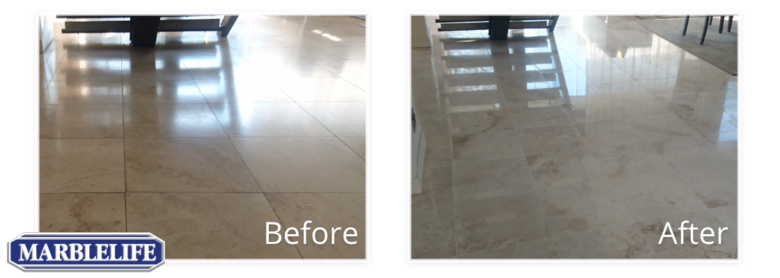 Travertine Before & After - 10