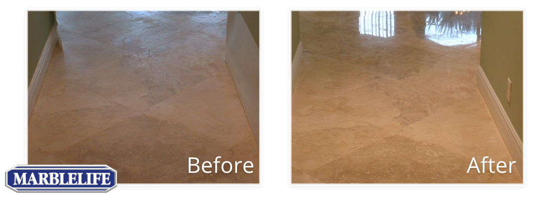Travertine Before & After - 13