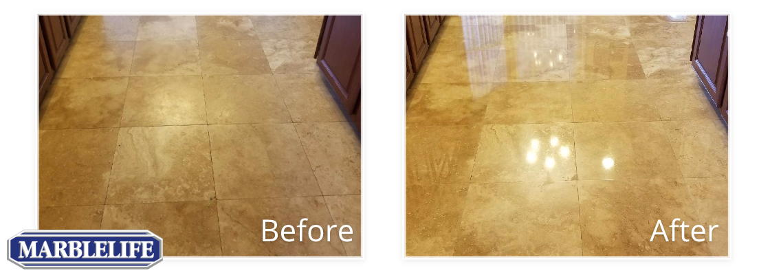 Travertine Before & After - 0