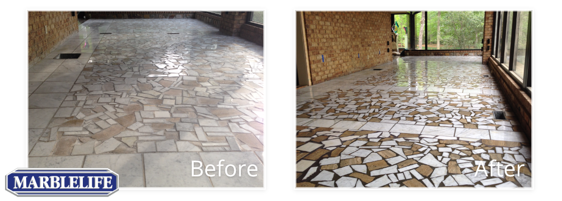 Travertine Before & After - 7
