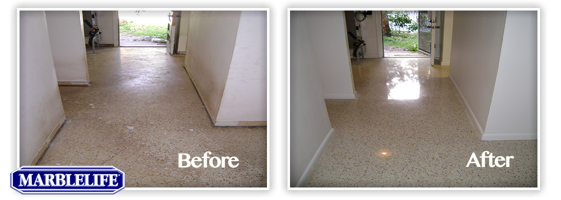 Travertine Before & After - 2