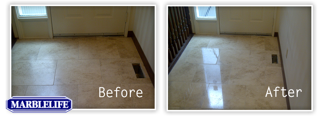 Travertine Before & After - 3