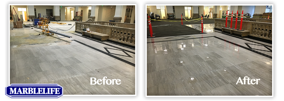 Travertine Before & After - 9