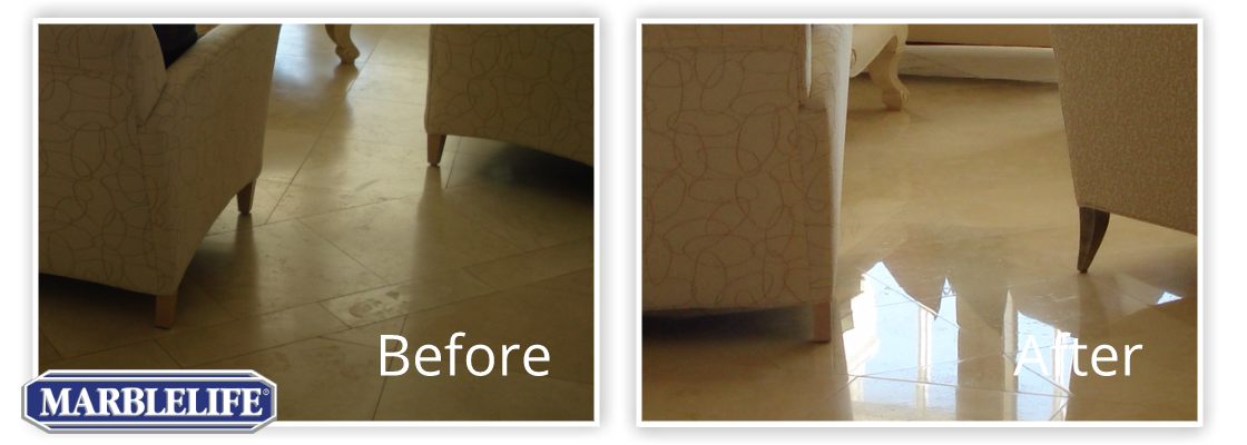 Travertine Before & After - 4